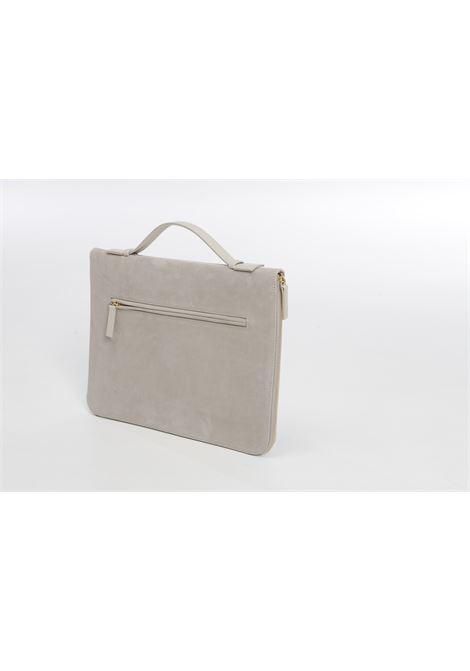 Borsa per laptop con zip in pelle di cervo color sabbia ELEVENTY | Porta Documenti | C77BORC06-PEL0C01702
