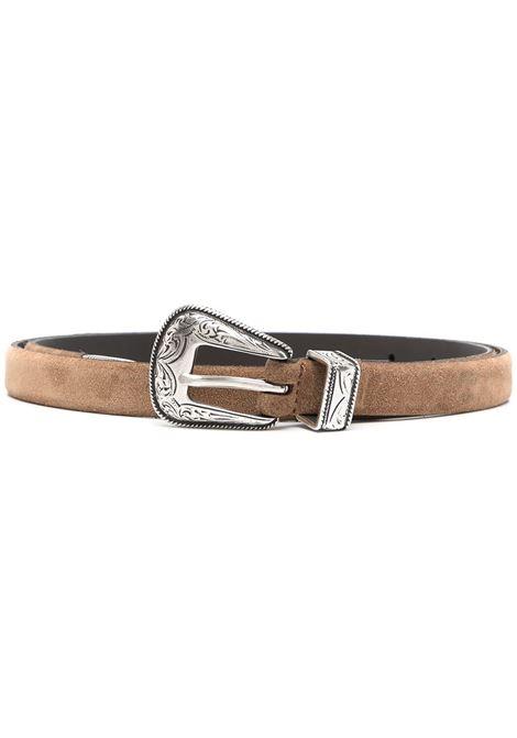 cintura in pelle marrone stile western ELEVENTY | Cinture | C77CINC12-PEL0C01504