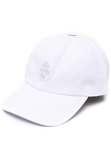 Cappellino bianco in cotone elasticizzato con logo Eleventy ricamato ELEVENTY | Cappelli | C77CPLC01-TES0C16001