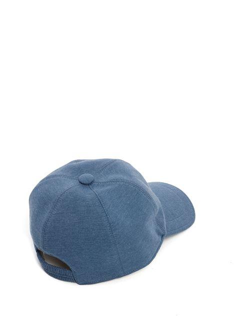 Cappellino blu jeans in cotone con logo Eleventy ELEVENTY | Cappelli | C77CPLC01-TES0C16008