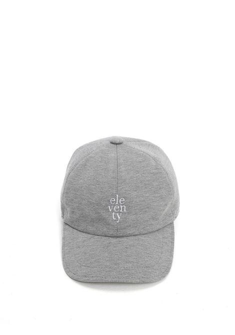 Cappello Eleventy ricamato in cotone elasticizzato grigio melange ELEVENTY | Cappelli | C77CPLC01-TES0C16013