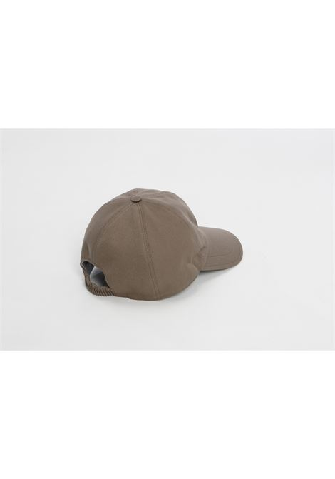 Taupe brown cap featuring white embroidered Eleventy logo ELEVENTY |  | C77CPLC01-TES0C16107