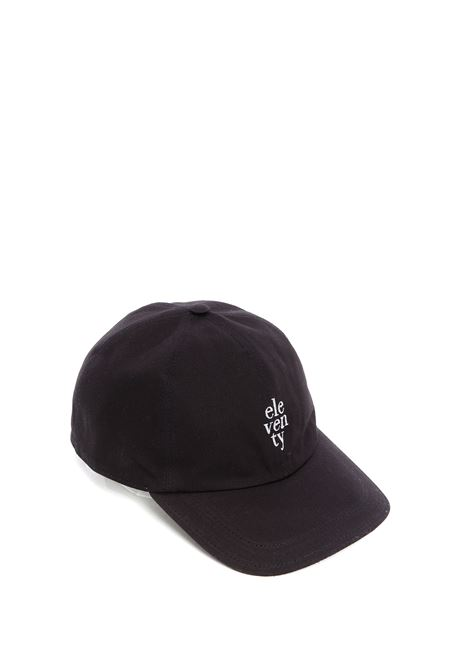 Blue cotton cap feauting red Eleventy logo-embroidered logo  ELEVENTY |  | C77CPLC01-TES0C16111