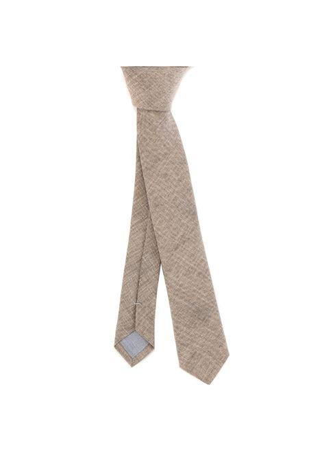 Cravatta beige in seta, lino e lana ELEVENTY | Cravatte | C77CRAA01-CRA0C03302