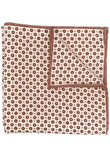 Pochette beige e marrone in misto cotone e lana con stampa a pois ELEVENTY | Pochette | C77POCA01-TES0C09604