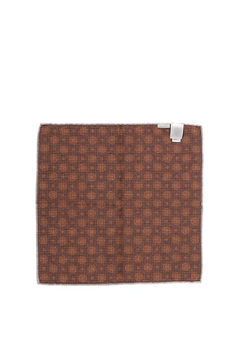 Pochette blu navy in misto cotone e lana con stampa a pois ELEVENTY | Pochette | C77POCA01-TES0C09711