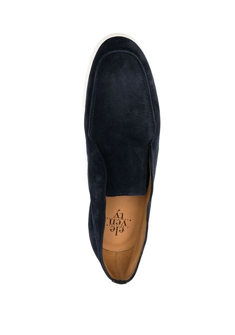 Navy blue suede and leather loafers  ELEVENTY |  | C77SCAC03-SCA0C00811