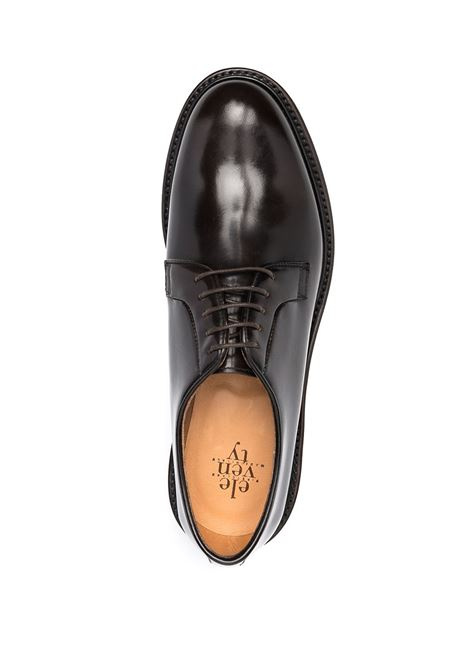 Brown leather lace-up leather shoes featuring round toe ELEVENTY |  | C77SCAC05-SCA0C00905
