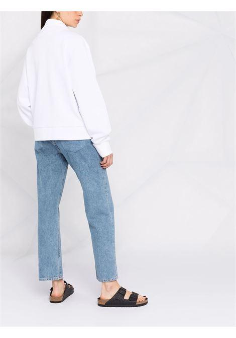 Giacca leggera in cotone bianco con colletto da baseball ELEVENTY | Giubbini | C80FELC07-TES0C20101