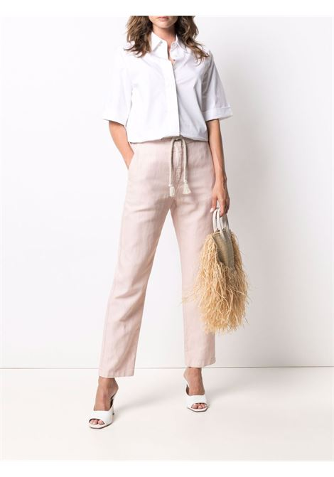 Pantaloni rosa a gamba dritta in cotone e lino ELEVENTY | Pantaloni | C80PANC15-TET0A04090