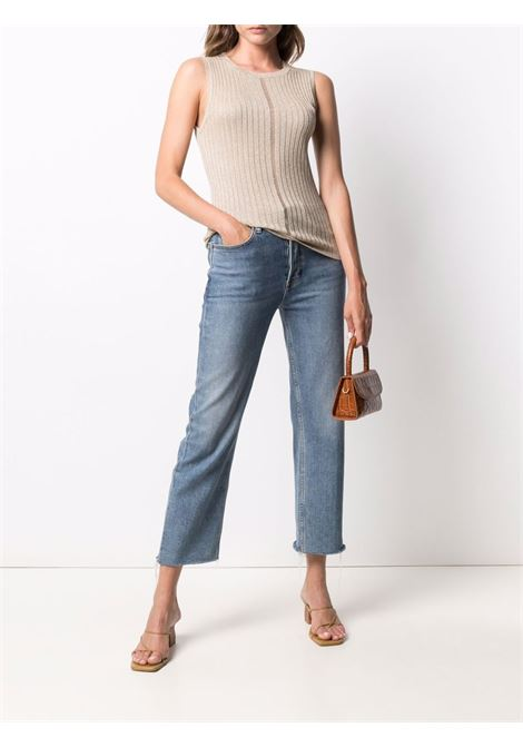 Cream sleeveless knit top featuring crew neck ELEVENTY |  | C81MAGC09-MAG0C07002