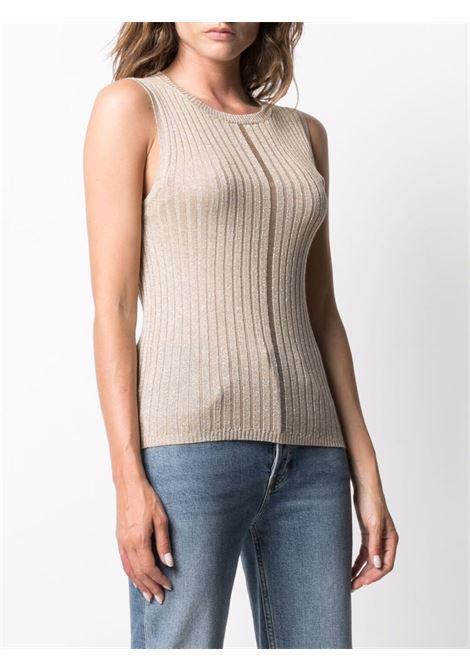 Top crema senza maniche in maglia con girocollo ELEVENTY | T-shirt | C81MAGC09-MAG0C07002
