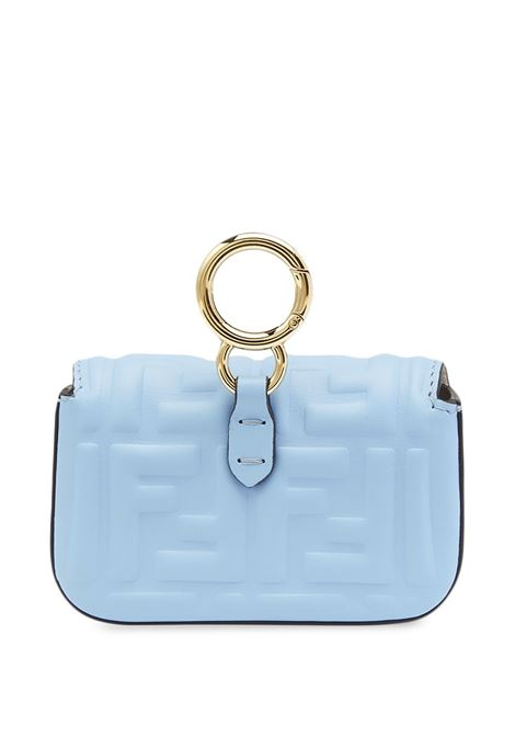 sky blue nappa leather Nano Baguette mini bag  FENDI |  | 7AR844-AAJDF1CCB