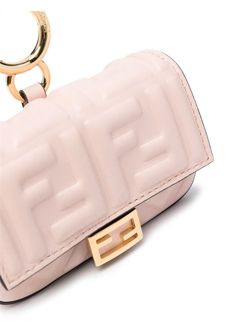 Pink nano Baguette bag featuring a gold-tone chain shoulder strap FENDI |  | 7AR844-AAJDF1D3P