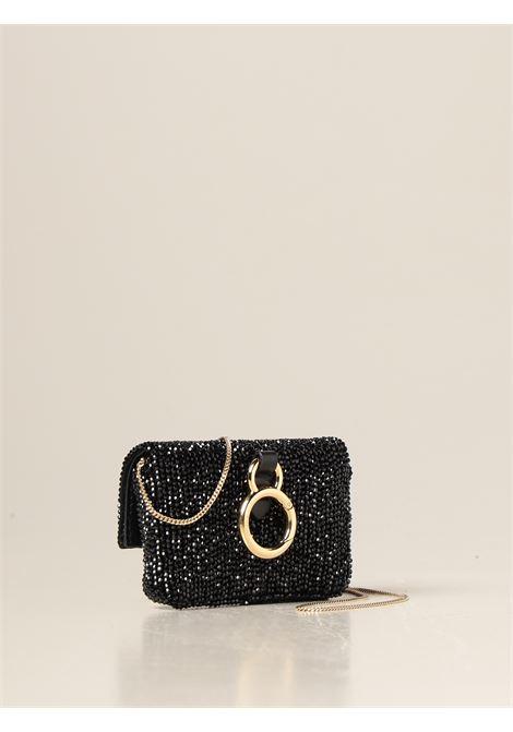 mini borsa Nano Baguette in pelle di vitello nera con decorazioni in cristalli FENDI | Borse a tracolla | 7AR844-ADC8F0KUR