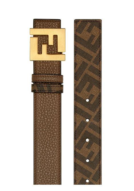 Brown calf leather reversible FF-buckle belt featuring FF motif FENDI |  | 7C0424-AFF1F1E6N
