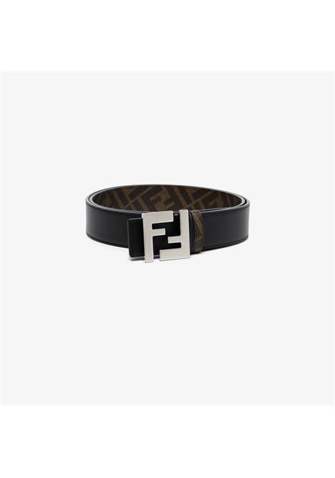 Black reversible belt featuring silver FF Fendi logo  buckle fastening FENDI |  | 7C0424-AFF2F1E91