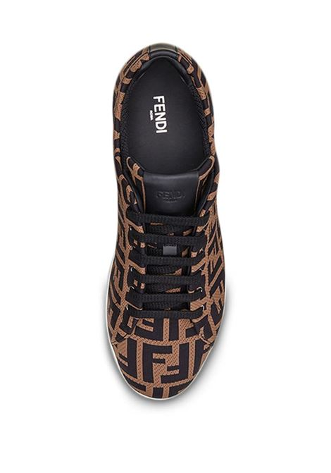 brown FF motif mesh lace-up sneakers  FENDI |  | 7E1258-A7MYF0R7R