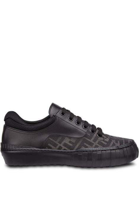 Sneakers con motivo FF in pelle di vitello nero FENDI | Sneakers | 7E1415-AF5CF1BO6