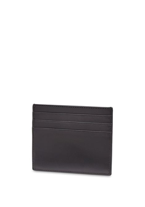 Black calf leather debossed Fendi logo cardholder  FENDI |  | 7M0164-AFCLF0GXN