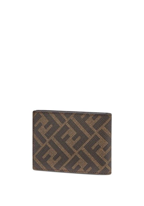 Orange, brown and black leather FF logo-print wallet   FENDI |  | 7M0303-AFB4F1DZA
