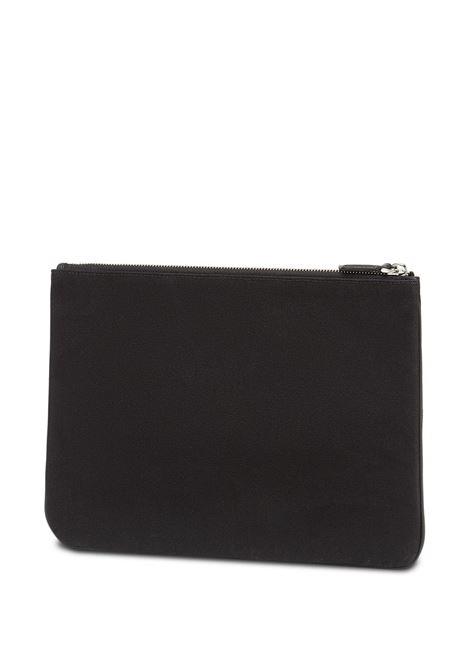 black canvas raised Fendi logo medium pouch  FENDI |  | 7N0111-AFBDF0GXN