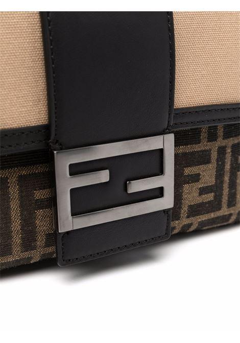 Brown, beige and black leather Baguette featuring  FF logo motif FENDI |  | 7VA472-AFBMF1DZY