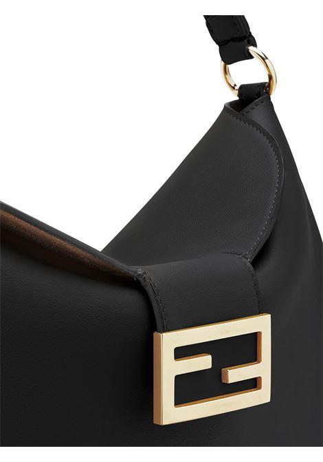 Borsa a tracolla piccola Croissant in pelle di vitello nero FENDI | Borse a tracolla | 8BR790-AF2PF0KUR