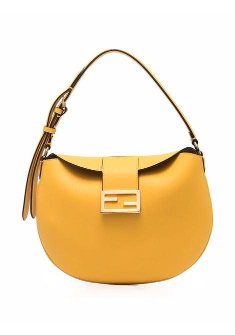 yellow calf leather small Croissant shoulder bag  FENDI      8BR790-AF2PF192E