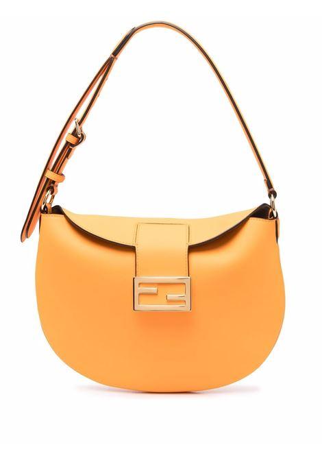 Borsa a spalla Croissant piccola in pelle arancione FENDI | Borse a tracolla | 8BR790-AF2PF1DZH