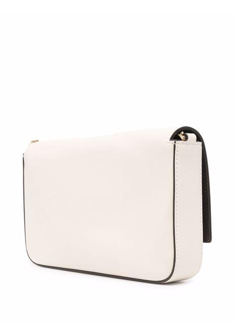 pochette in pelle bianca con logo Fendi impresso FENDI | Borse a tracolla | 8BS032-AAYZF0KTE