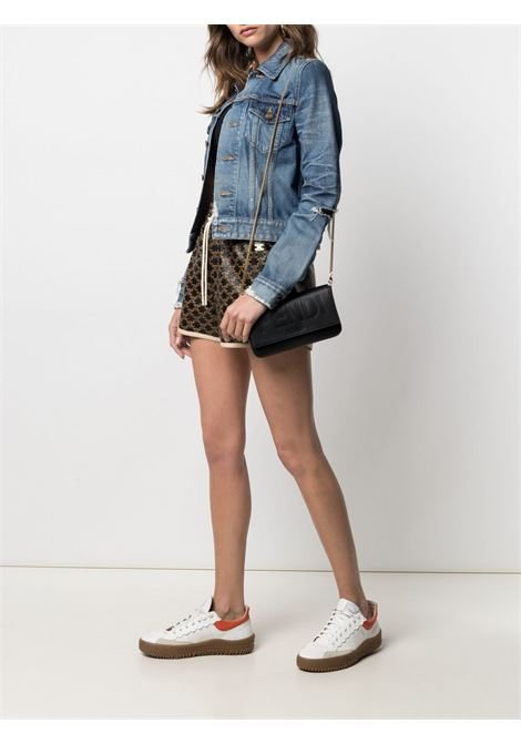 black leather clutch bag featuring Fendi debossed logo FENDI |  | 8BS032-AAYZF0KUR