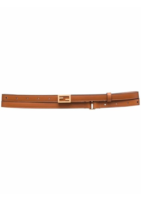 Brown leather1cm belt featuring gold FF buckle belt FENDI |  | 8C0637-AAIWF0QVK
