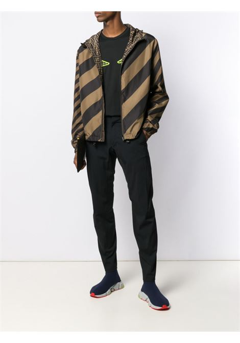brown and black reversible zipped-up jacket FENDI |  | FAA615-A79NF13IZ