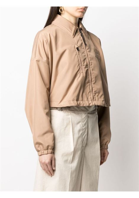 Tan beige cropped jacket featuring Fendi embossed logo FENDI |  | FAN025-AERXF1D3F