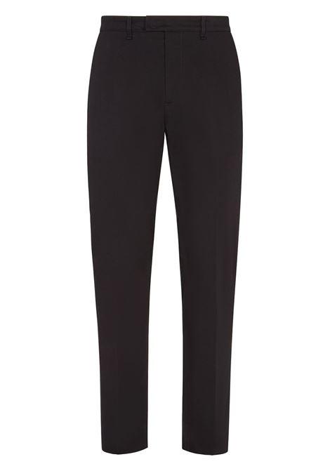Pantaloni sartoriali a vita alta in cotone elasticizzato nero FENDI | Pantaloni | FB0683-AFE5F0QA1