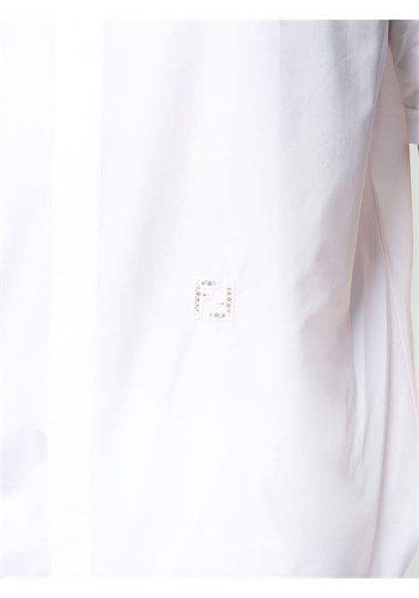 White cotton shirt featuring broderie anglaise and Fendi logo FENDI |  | FS0795-AF02F0QA0