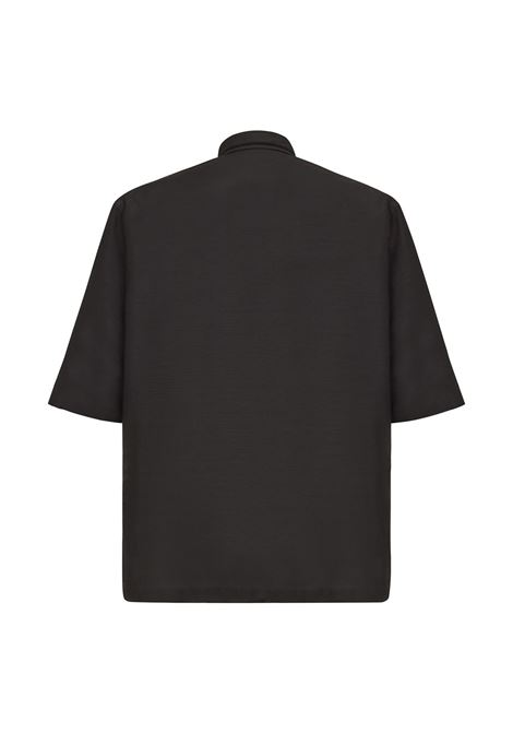 Black wool embroidered short-sleeve shirt FENDI |  | FS0956-A4FQF0QA1