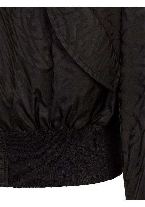 Bomber nero con motivo monogramma Fendi Vertigo FENDI | Giubbini | FW1029-AG86F0QA1