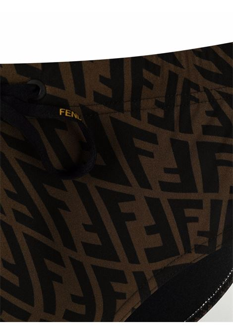 Brown and black Fendi Vertigo swimming briefs   FENDI |  | FXB076-AGBLF0QT2
