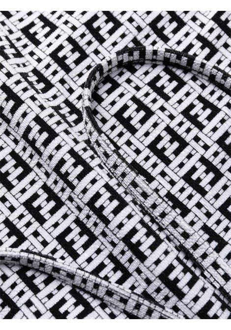 Costume da bagno con scollo a U con motivo FF grigio e nero FENDI | Costumi | FXB959-AESIF10B2