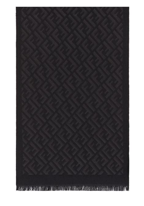 Black silk and wool  FF Fendi scarf  FENDI |  | FXS124-AFHPF0QA1