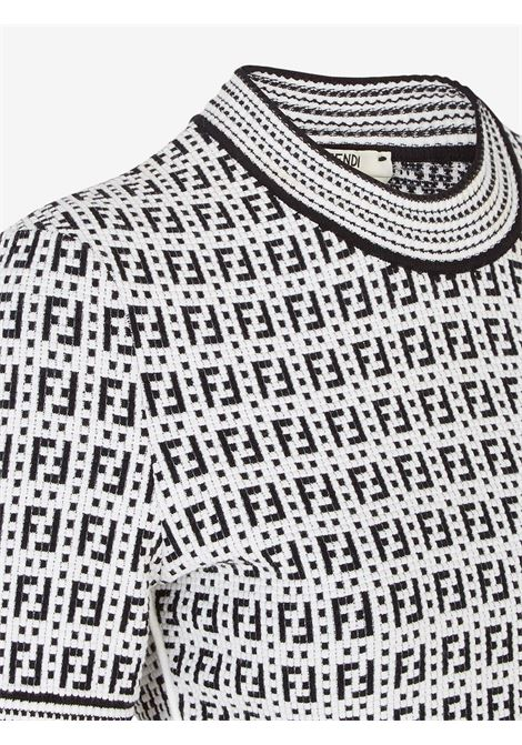 Black and white FF pattern woven top  FENDI |  | FZX649-AF4UF0ZNM