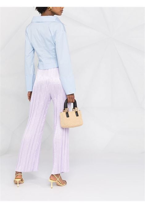 Light purple pleated flared trousers  FORTE_FORTE |  | 8224VIOLETTO