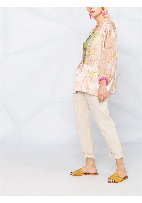 Coral pink silk floral kimono jacket FORTE_FORTE |  | 8254CORALLO