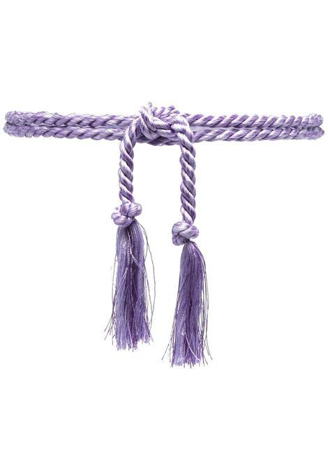 Cintura viola intrecciata con finiture in nappe FORTE_FORTE | Cinture | 8276LAVANDA