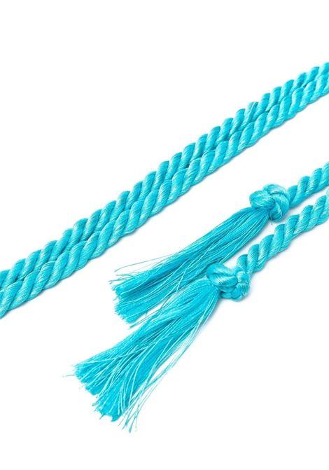 Cintura in corda con nappine turchese FORTE_FORTE   Cinture   8276MARE