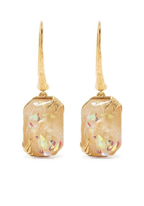 Orecchini pendenti con pietre preziose in metallo dorato FORTE_FORTE | Orecchini | 8287IVORY