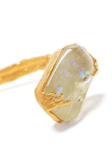 Bracciale con perle in metallo color oro impreziosito da cristalli FORTE_FORTE | Bracciale | 8288MINT