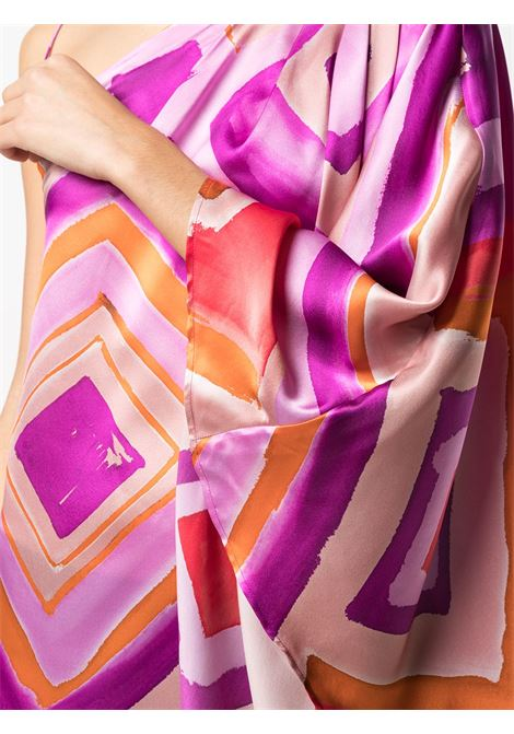 Orange and pink silk one-shoulder painterly-print dress  GIANLUCA CAPANNOLO |  | 21EA1159-350 ANNOUK119761